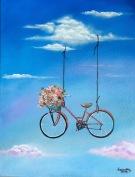 Serie Bicicletas I (2016) 11x14 Acrílico